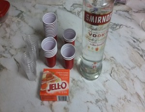 Shooter de Jello a la Vodka1